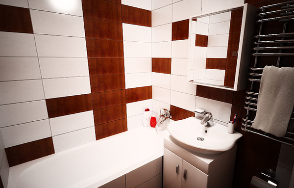 Tile for a bathroom in a panel house - 4