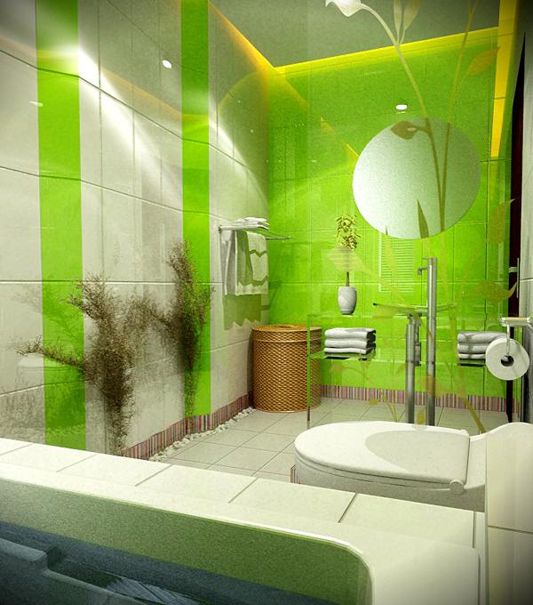 Зеленая плитка - 5