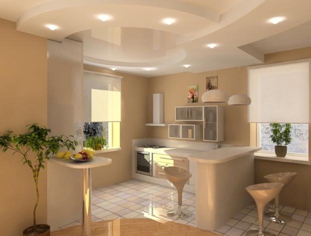 Потолки из гипсокартона для кухонь фотографии дизайн