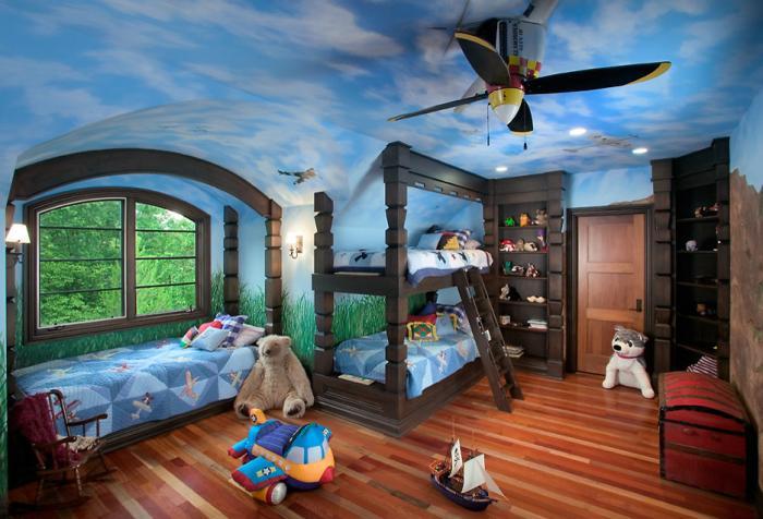 Оформляем потолок для двух мальчиков 4