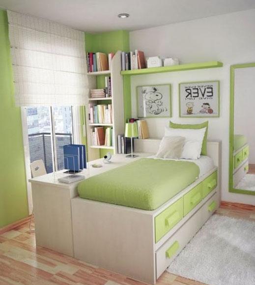 Спальня в оттенках зеленого