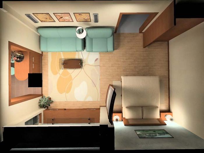 дизайн-проект однокомнатной квартиры 1