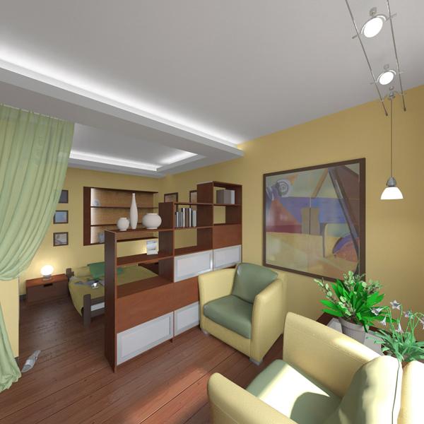 дизайн-проект однокомнатной квартиры 2