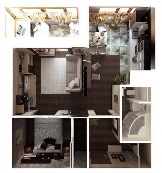 дизайн-проект однокомнатной квартиры 4
