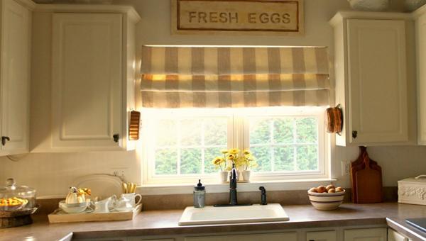 фото римских штор в кухню - 2