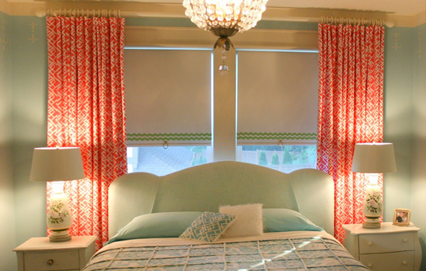 фото римских штор в спальню - 3