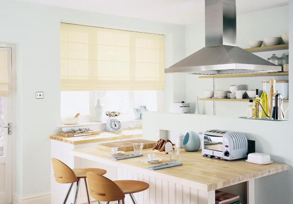 фото римских штор в кухню - 3