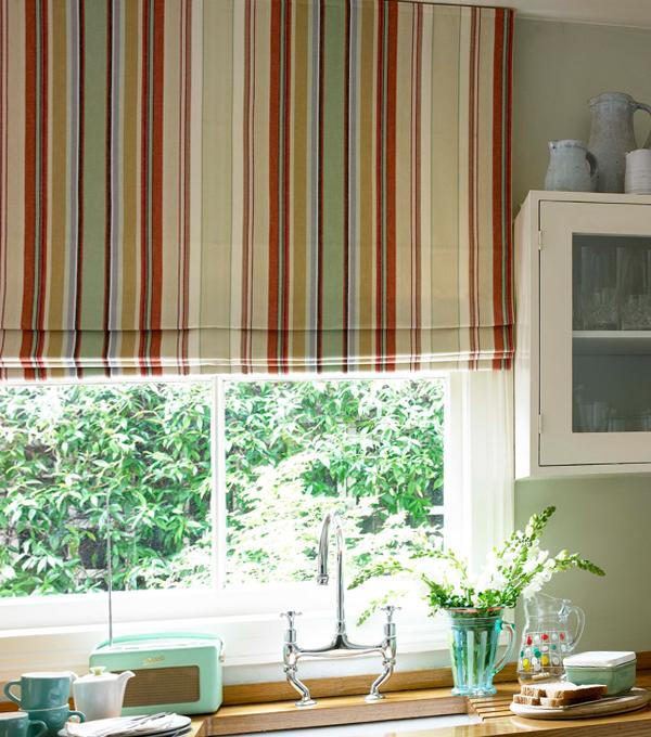 фото римских штор в кухню - 5