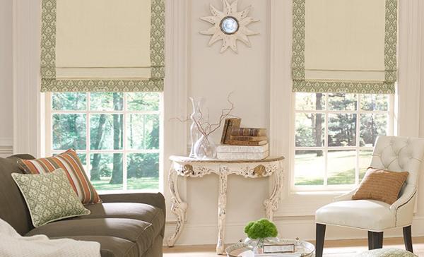 римские шторы в колониальном стиле - 2