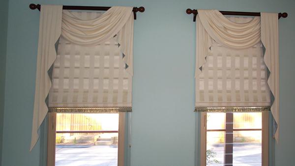 римские шторы для спальни - 1
