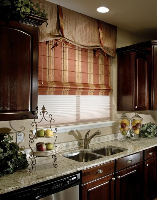 римские шторы для кухни - 2