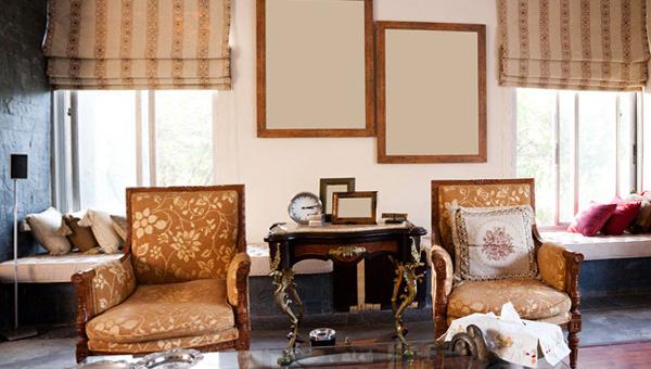 римские шторы для гостинной - 1