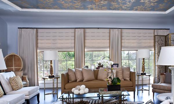 римские шторы для гостинной - 2