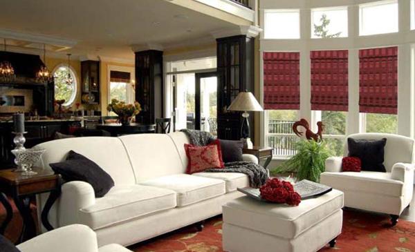 римские шторы для гостинной - 4