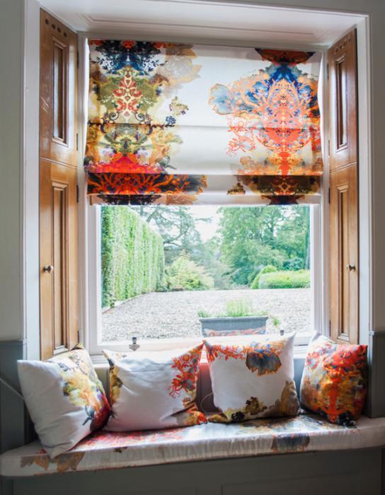 римские шторы в колониальном стиле - 6