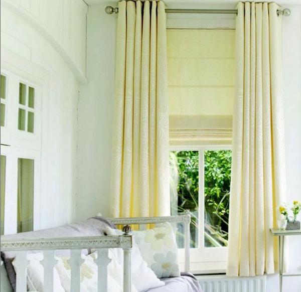 римские шторы для гостинной - 5