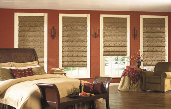 римские шторы для спальни - 5