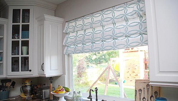 римские шторы для кухни - 4