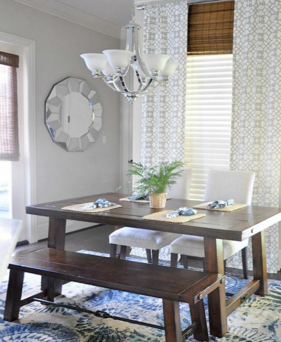 римские шторы для кухни - 6