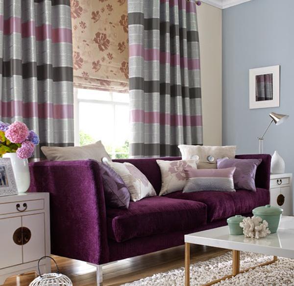 фото римских штор в гостинной - 2