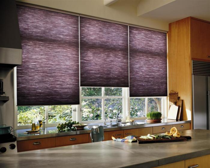 Рулонные шторы в интерьере кухни - фото 3