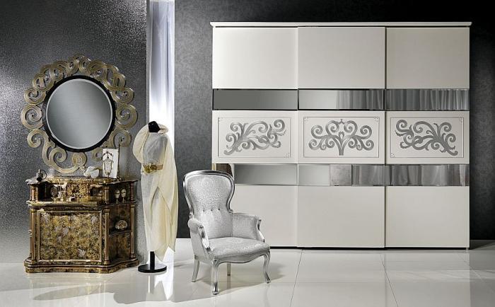 шкаф-купе классика спальня фото