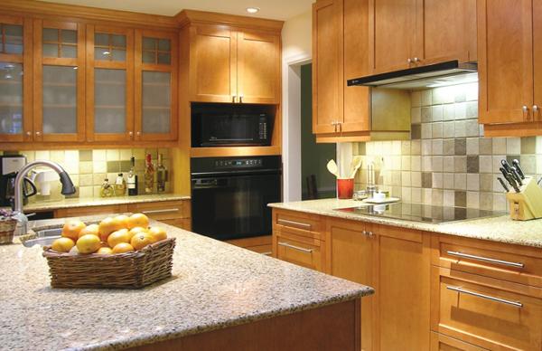 Плитка в интерьере кухни (укладка «шов в шов») - 5
