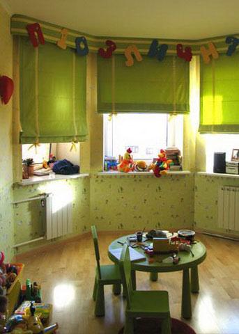 римские шторы в детской - 5