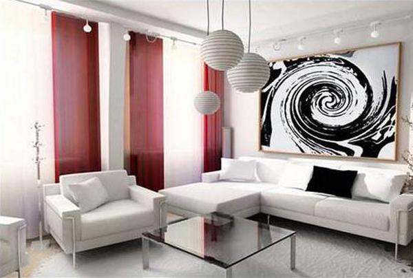 Фото штор в гостиную в современном стиле
