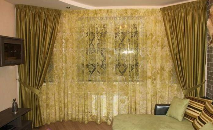 Короткие и длинные шторы