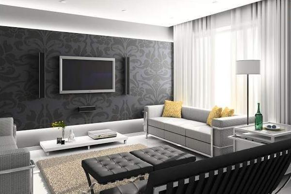 Фото штор в гостиную в стиле хай тек