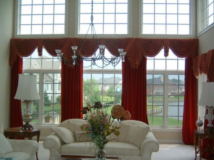 Шторы в гостиную на два окна