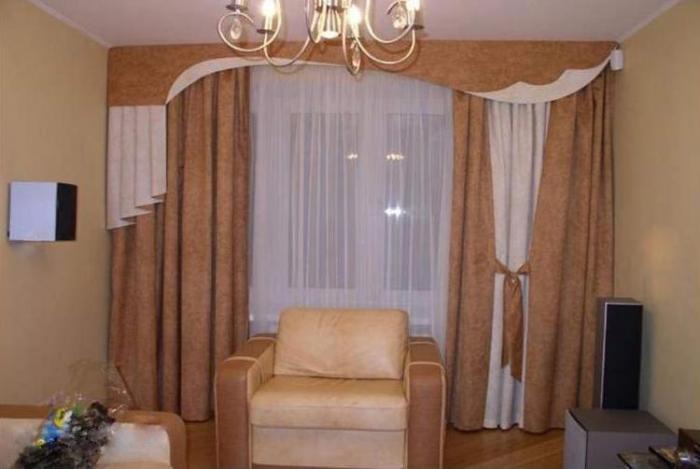 Фото штор в гостиную в классическом стиле