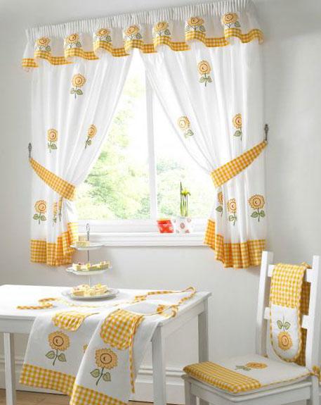 Идеи штор на кухню