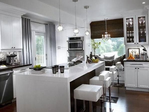 Шторы на кухню в стиле хайтек