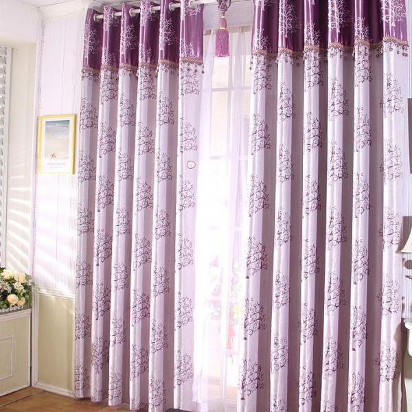 Шторы для гостиной фиолетовые