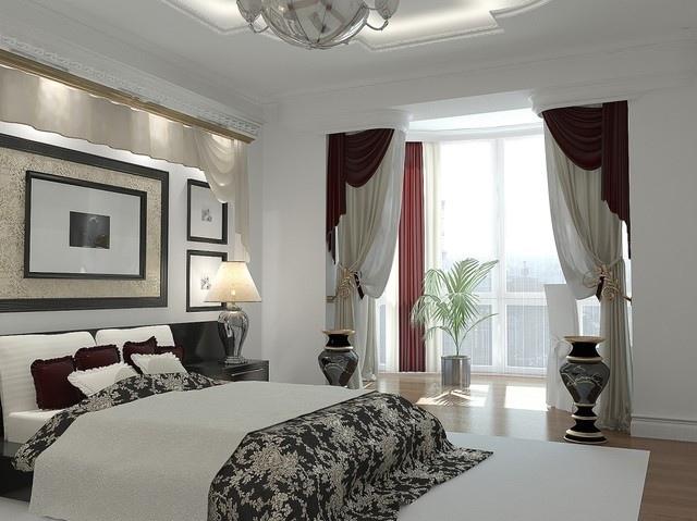 Фото штор в спальню 4