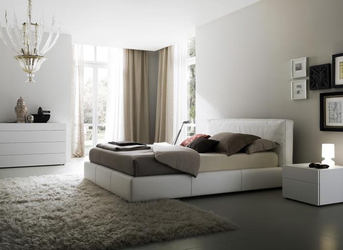 Фото штор для спальни в стиле минимализм