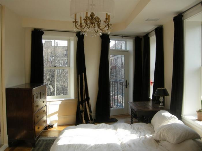Фото штор в спальню 10