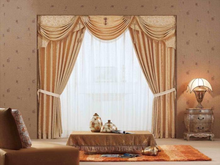 Фото штор для спальни в классическом стиле
