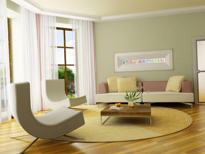 Шторы для зала в современном дизайне