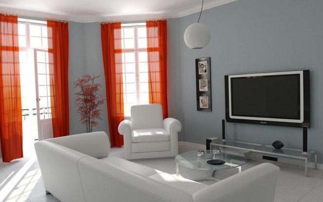 Интересные вариации штор для зала фото