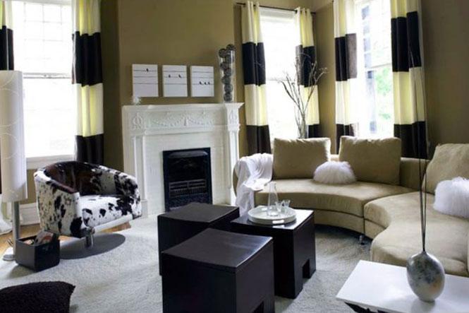 Шторы для зала с двумя окнами фото