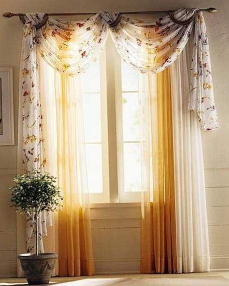Занавеси и шторы в зал