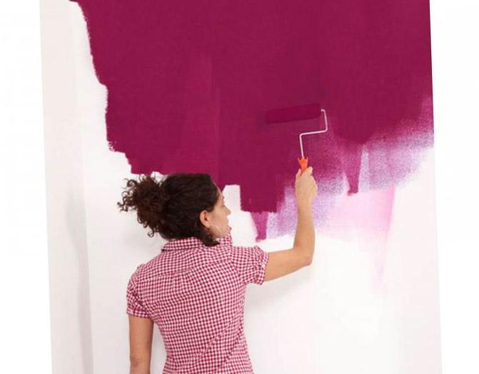Интерьер при помощи обоев под покраску