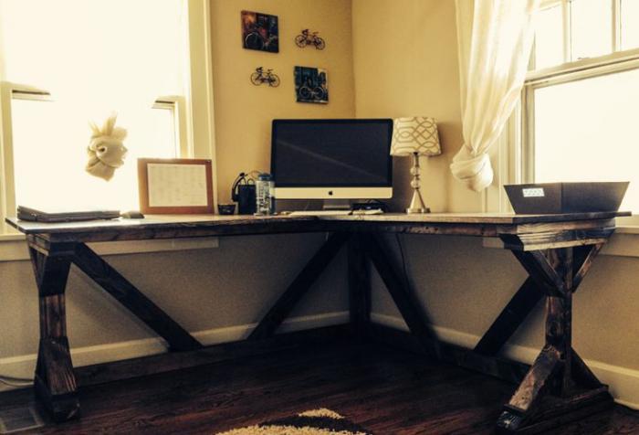 Преимущества углового стола перед обычным 4