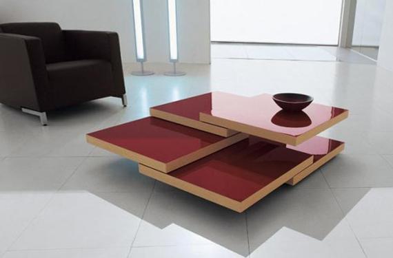 Красный журнальный столик