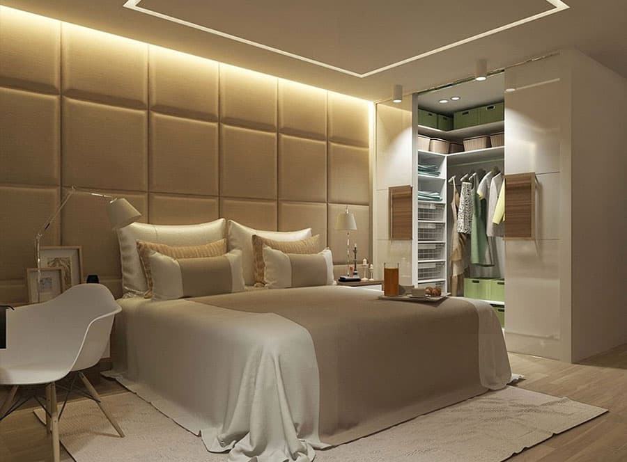 Спальня дизайн с гардеробом