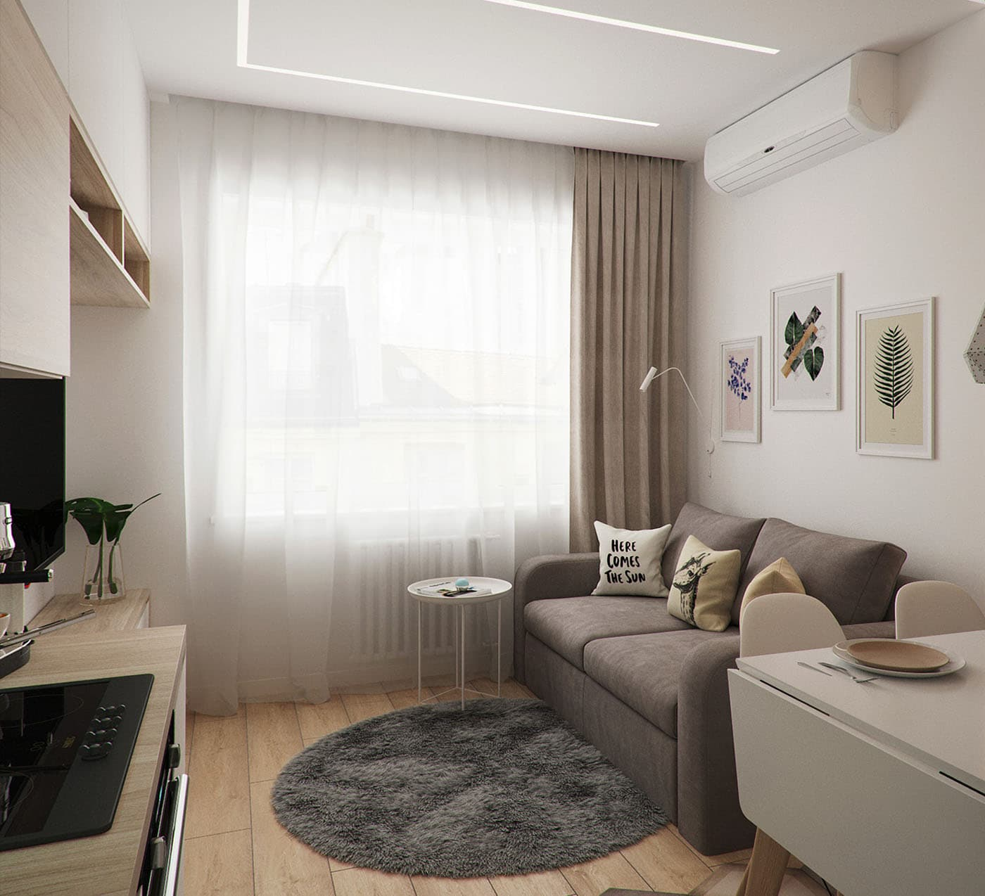 они дизайн небольшой гостиной комнаты фото высоты птичьего полёта