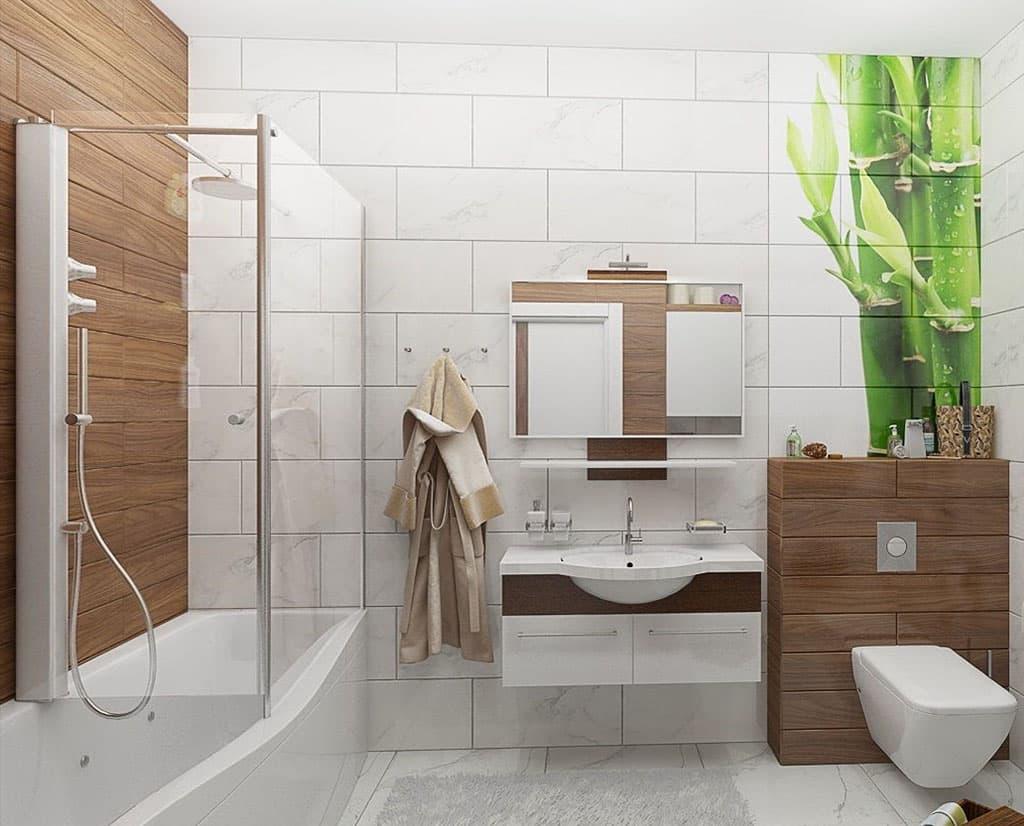 Дизайн маленькой ванной комнаты с ванной 2017-2018 современные идеи